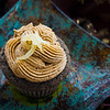 Kuro Kuro Ginger Cupcake, complete with candied ginger garnish. © 2012 Sugar + Shake