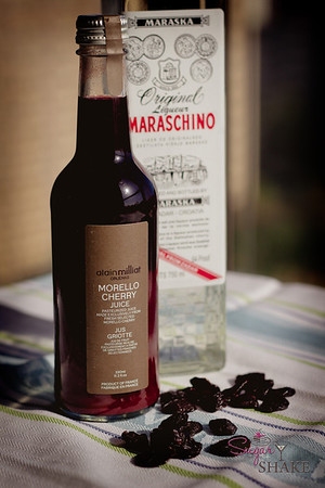 Morello Cherry Juice (found it at Williams-Sonoma…of course…addicted to shopping there? Us? No…) © 2012 Sugar + Shake