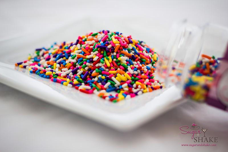 Yay, rainbow sprinkles! (Yes, this recipe uses an entire jar.) © 2013 Sugar + Shake