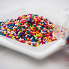 Yay, rainbow sprinkles! (Yes, this recipe uses an entire jar.) © 2013 Sugar + Shake