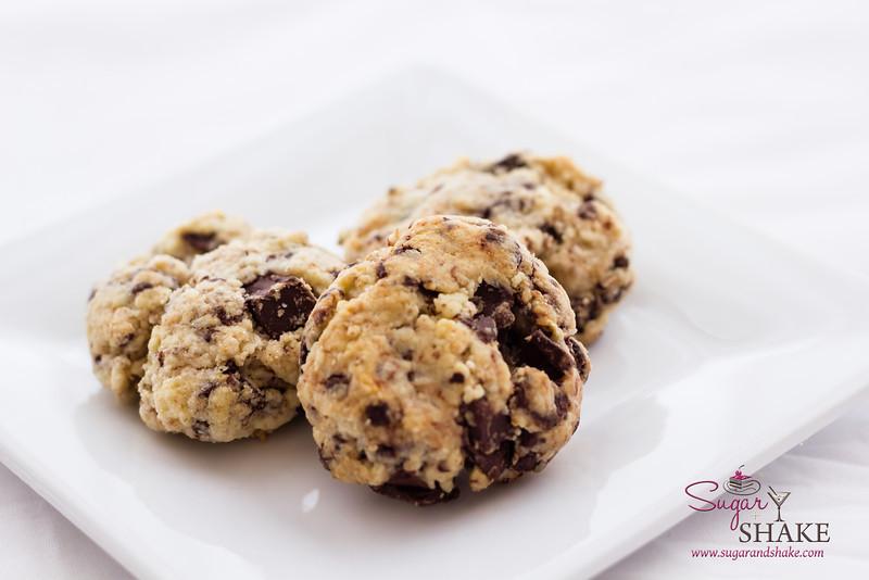 Dark Chocolate & Cream Cheese Chunk Smoked Tea Shortcake Cookies. © 2013 Sugar + Shake