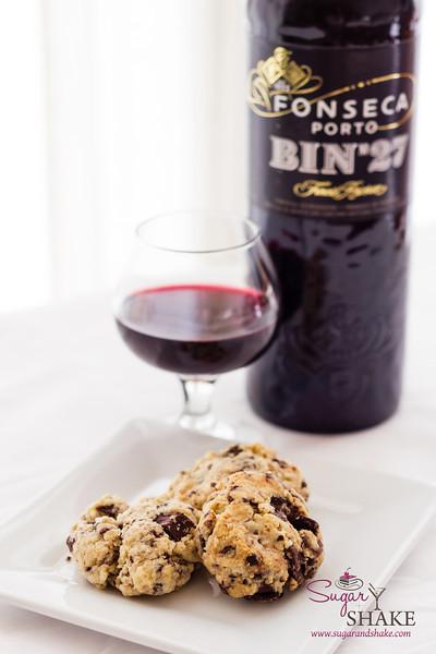Dark Chocolate & Cream Cheese Chunk Smoked Tea Shortcake Cookies for the Fonseca BIN 27 Cookie Rumble. © 2013 Sugar + Shake