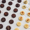 Cocoa and plain shortbread cookies with sea salt. © 2013 Sugar + Shake