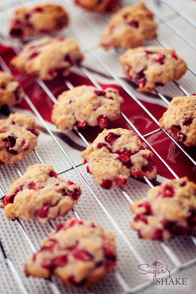 Makes about three dozen cookies. Make sure to bake them on parchment paper, because they get a bit sticky. © Sugar + Shake