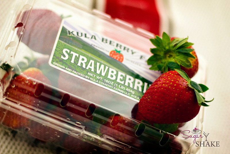 Strawberries from Upcountry Maui—mmm, soooo sweet! © Sugar + Shake