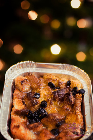Christmas-y, right? Bourbon Bread Pudding. © 2012 Sugar + Shake