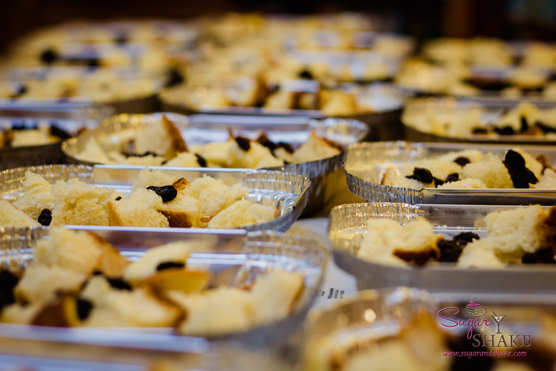 A sea of puddings, ready for custard. © 2012 Sugar + Shake