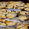 A sea of puddings, ready for custard. © 2012 Sugar + Shake