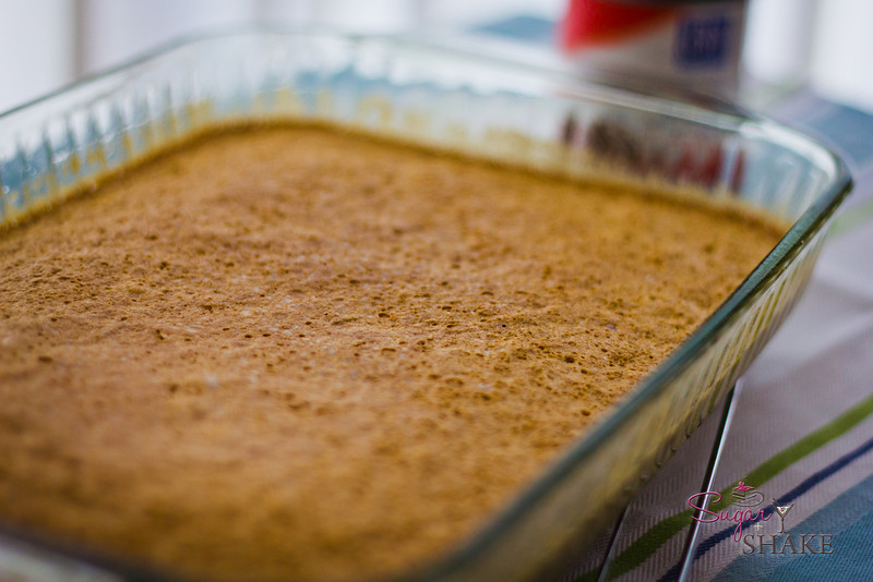 The cake bakes up very quickly, in about 20 minutes. © 2012 Sugar + Shake