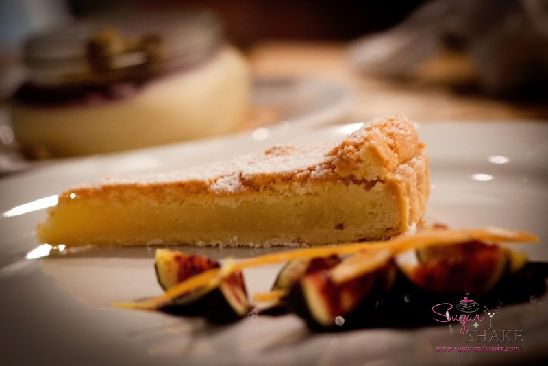 Go for the pork, stay for dessert. Frangipane tart with figs and citrus zest at The Whole Ox Deli. © 2012 Sugar + Shake