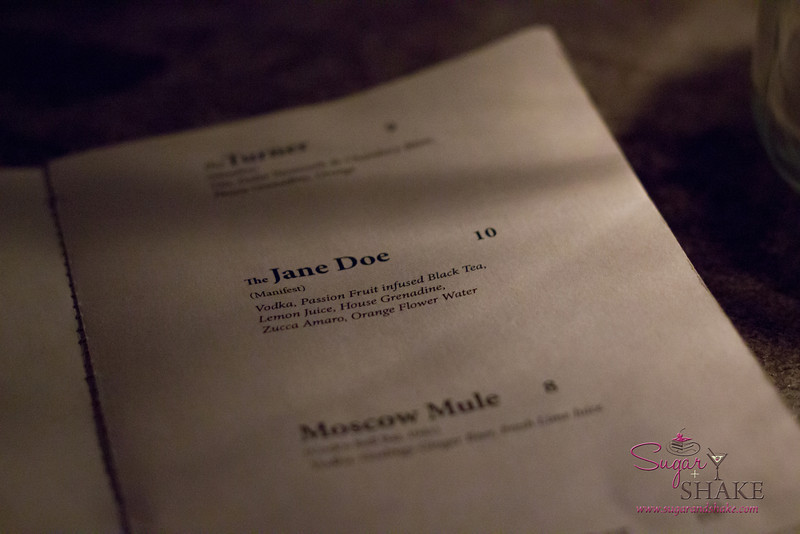 "Menu: ""The Jane Doe"" at The Manifest."