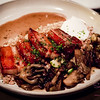 Porridge & Pork Belly with Poached Egg & Hen of the Wood Mushrooms at Livestock Tavern. © 2014 Sugar + Shake
