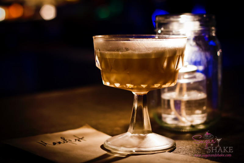 "Saturday night drink special ""Mexican Milk Punch"" by Justin Park at The Manifest. © 2012 Sugar + Shake"