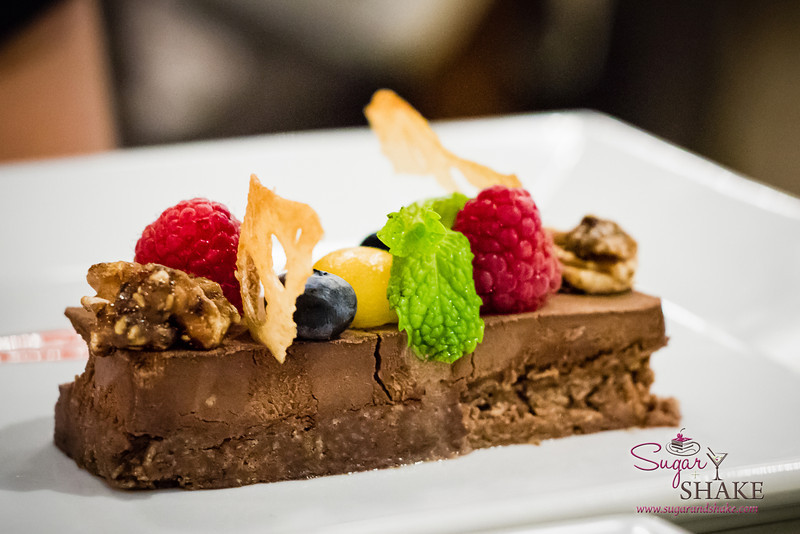 Chef Chai at Pacifica Tasting Dinner — Chocolate Crunch Bar. © 2013 Sugar + Shake