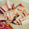 "House-made pancetta — Malama Farms pork cured for four months — from The Whole Ox Butcher & Deli. <a href=""Making Yotam Ottolenghi's Pasta & Fried Zucchini Salad"">Read the blog</a> © 2013 Sugar + Shake"