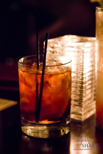 Parisian Negroni at Du Vin — Courvoisier V.S. Cognac, Campari, St. Elizabeth Allspice Dram, Sweet Vermouth. © 2013 Sugar + Shake
