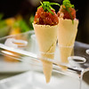 Chef Chai at Pacifica Tasting Dinner — 'Ahi Tartar in Mini Waffle Cones. A regular order comes with six cones. © 2013 Sugar + Shake