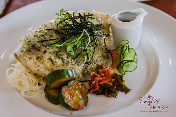 MW Restaurant Mochi-Crusted Monchong. © 2014 Sugar + Shake