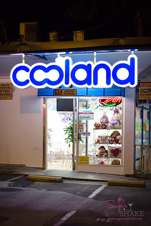"Exploring the 'hood: New-ish dessert place, Cooland. It's a land of cool, but with only one  ""L"". © 2013 Sugar + Shake"