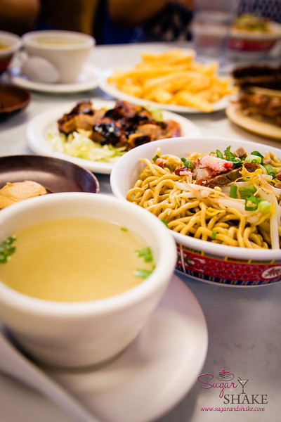 """Sam Sato's famous """"Dry Noodles"""" come with a side of soup. © 2014 Sugar + Shake"""