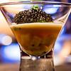 Vintage Cave. Course One: White sturgeon Caviar, lobster en gelée, Hawaiian hearts of peach palm, tarragon pudding. © 2014 Sugar + Shake