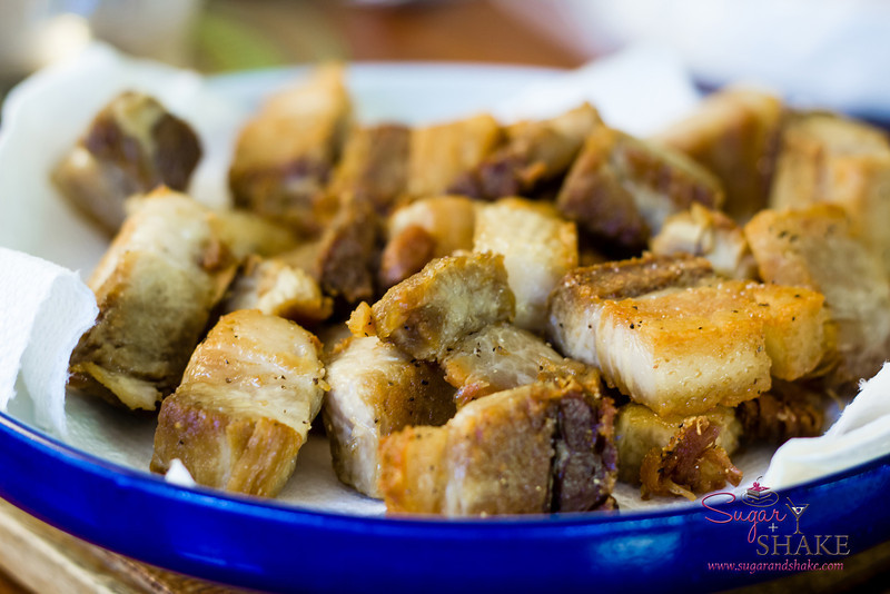 Pork belly by Chef Sheldon Simeon, pan frying by Mom. © 2012 Sugar + Shake