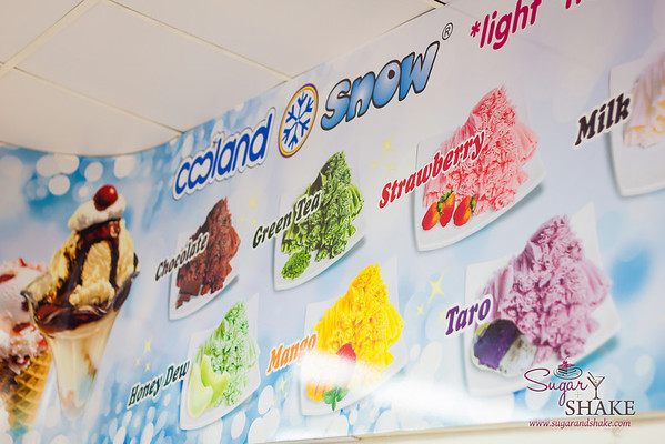 "Like many other local places, Cooland offers ""snow ice,"" which is a creamier, lighter, fluffier version of shave ice. © 2013 Sugar + Shake"