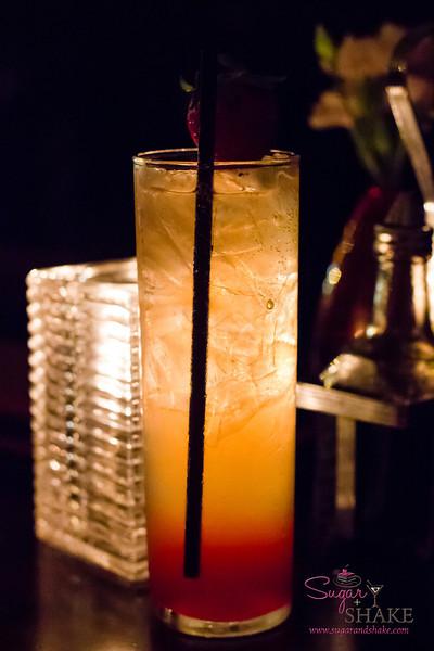 Bellini d'Etoiles at Du Vin — Old Tom Gin, Local Strawberry-Dill Syrup, Lorina Lemonade. © 2013 Sugar + Shake