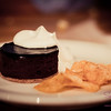 "<a href=""http://wholeoxdeli.com"">The Whole Ox Deli</a>'s Kiawe-Smoked Brownie with BBQ chips & whipped cream. © 2012 Sugar + Shake"