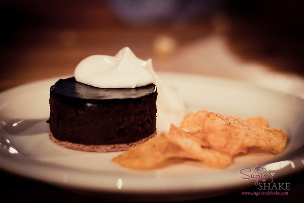 The Whole Ox Deli's Kiawe-Smoked Brownie with BBQ chips & whipped cream. © 2012 Sugar + Shake