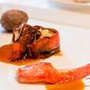 Chef Mavro Fall 2014 Menu Tasting. Roasted Keahole lobster, chorizo-crustacean taro puff, Upcountry vegetable fricassee in tamarind-tapioca jus, lobster essence. © 2014 Sugar + Shake