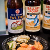 Foodland Poke Pau Hana Preview Event. Pairing #3: Spicy 'Ahi Poke + Fat Tire Amber Ale. Pairing #4: Hawaiian-Style Mussel Poke + Ballast Point Grunion Pale Ale. © 2016 Sugar + Shake