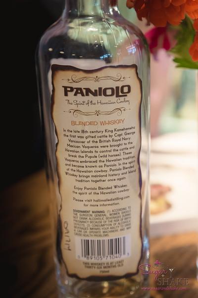 Paniolo whiskey, a local product. © 2015 Sugar + Shake