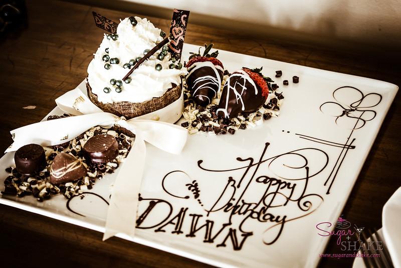 A lovely birthday dessert tray sent up by the fabulous folks at the Ritz-Carlton Kapalua. © 2014 Sugar + Shake