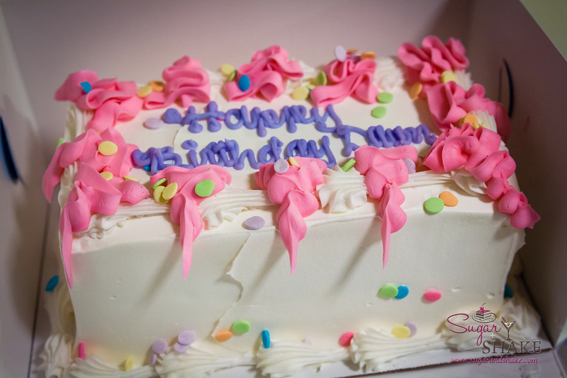 An ice cream cake is an integral part of Sugar's birthday. © 2014 Sugar + Shake