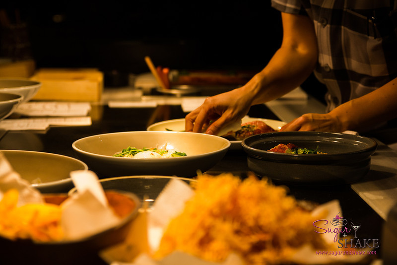 Dining on the pass at Ka'ana Kitchen. © 2014 Sugar + Shake