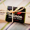 "Shake brought home a set of three bars from a boutique chocolate company, <a href=""http://www.manoachocolate.com"">Mānoa Chocolate</a>. © 2012 Sugar + Shake"