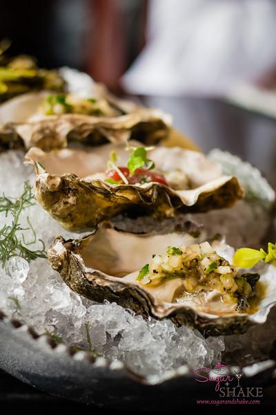 Kumamoto oysters at Three's Bar & Grill in Kihei. © 2013 Sugar + Shake