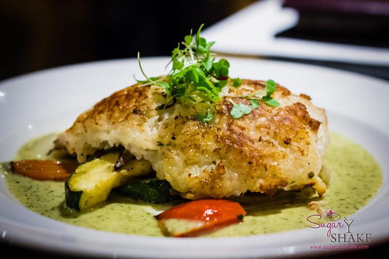 Risotto-Crusted Pesce at Pulehu, an Italian Grill at The Westin Kā'anapali Ocean Resort Villas. © 2013 Sugar + Shake