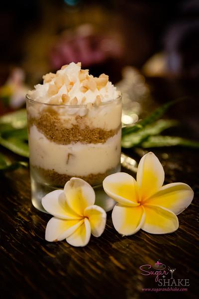 Banana and mac nut parfait. #MalamaMaui media dinner at Travaasa Hāna's Ka'uiki Restaurant. © 2015 Sugar + Shake