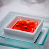 Mavro Summer Menu Dinner: Pre-Dessert — Watermelon in Champagne Gelée, Fresh Mint. © 2013 Sugar + Shake