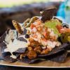 Food Truck Nachos: Maui Cattle Co. beef chili, pepperjack queso sauce, chipotle cream, jalapenos, guacamole and pico de gallo. Westin Kā'anapali Ocean Resort's Pailolo Bar & Grill. © 2015 Sugar + Shake