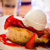 Kula Strawberry Shortcake Napoleon (orange zest and poppy seed scented savarin, whipped  vanilla bean cream, Upcountry strawberries, basil syrup). Westin Maui's Relish Oceanside. © 2015 Sugar + Shake