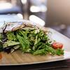 Kā'anapali Greens salad, with fresh grilled monchong. Westin Kā'anapali Ocean Resort's Pailolo Bar & Grill. © 2015 Sugar + Shake