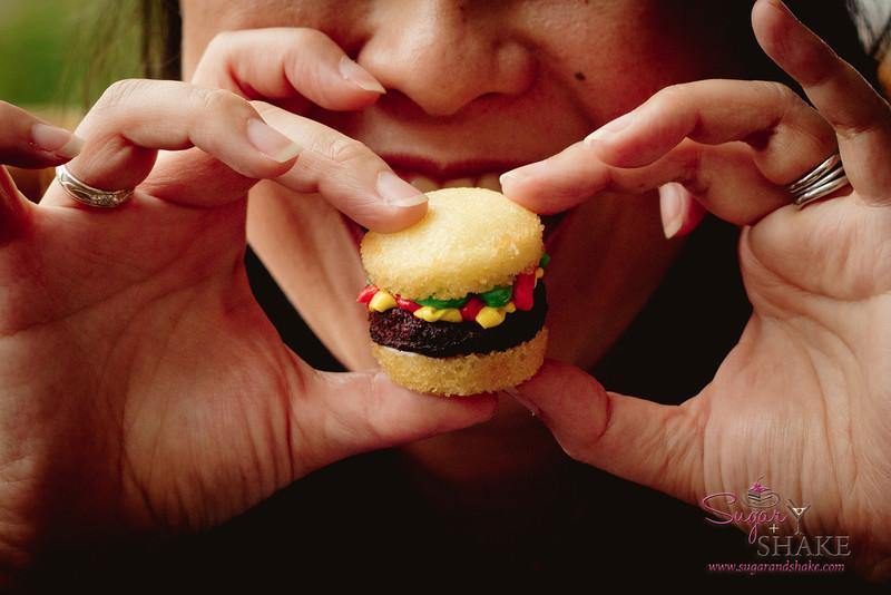Mmmm, cupcake burger! © 2012 Sugar + Shake