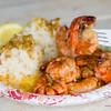 Giovanni's shrimp plate. © 2013 Sugar + Shake
