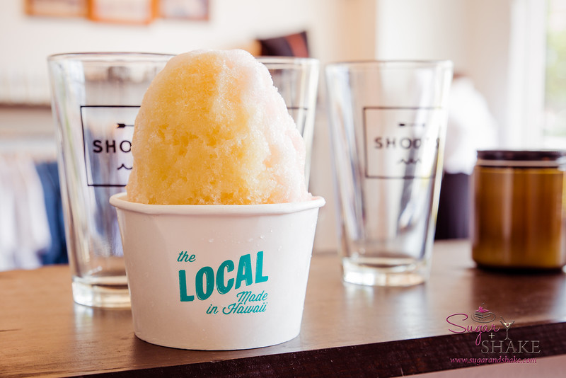 Shave ice at The Local. Ooh, hipster-tastic! © 2015 Sugar + Shake