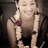Owner and chief gelato maker, Melissa Bow. The day we hit the truck was her first day, hence the lei. © 2012 Sugar + Shake