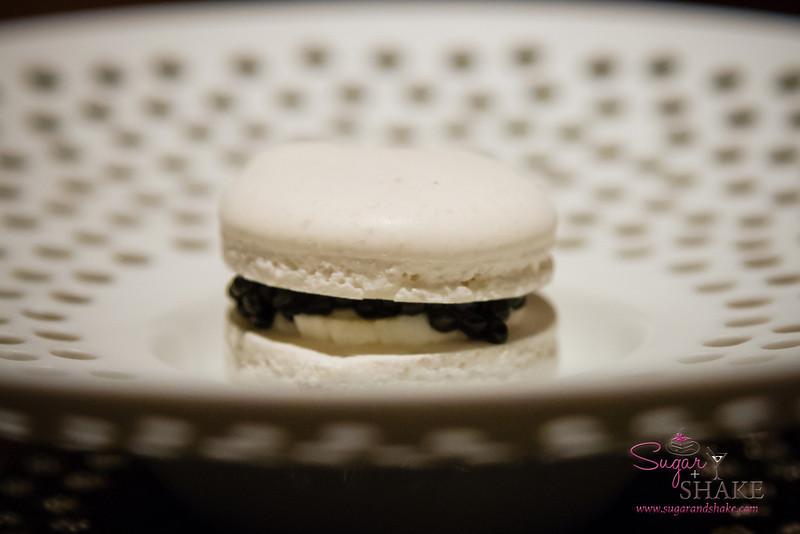 A mainstay favorite: the Caviar and Vanilla Bean Macaron. © 2013 Sugar + Shake
