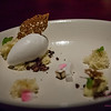 This dessert offering was very similar to one of the desserts we had for Sugar's birthday dinner at Orchids. An Indian sponge cake, with coconut gelato and bits of roasted coconut, coffee and cocoa. © 2013 Sugar + Shake